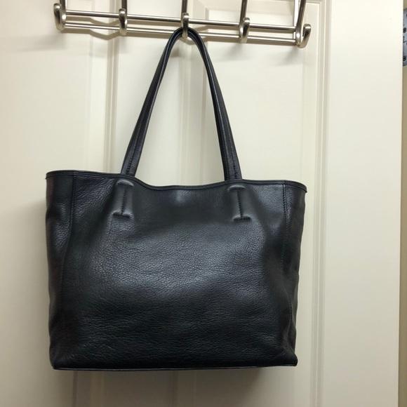 393323b68cbe Saks 5th Avenue-Black Label pebble leather tote. M 5a63f6f945b30c9a2a75a388